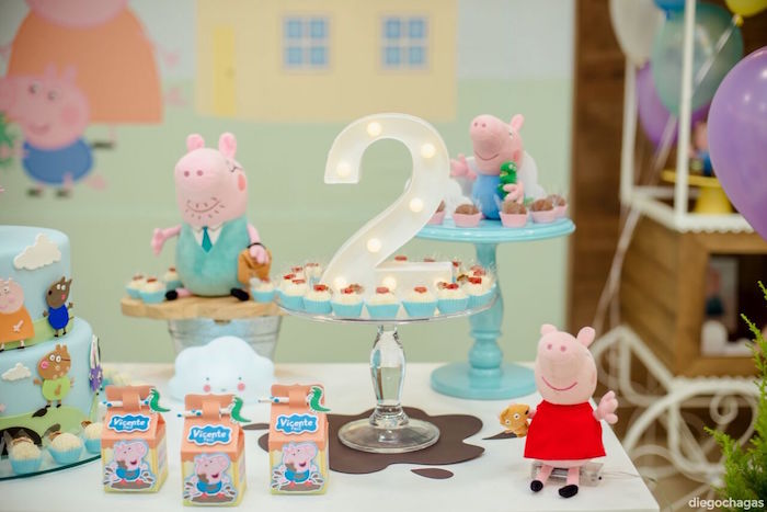 Sweet table detail from a George Pig Birthday Party on Kara's Party Ideas | KarasPartyIdeas.com (13)