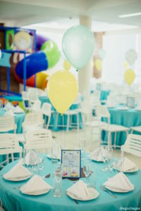 Guest table from a George Pig Birthday Party on Kara's Party Ideas | KarasPartyIdeas.com (10)