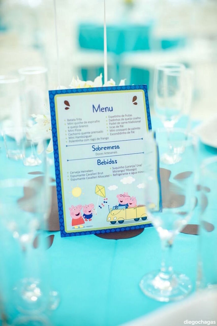 Peppa Pig Menu Card from a George Pig Birthday Party on Kara's Party Ideas | KarasPartyIdeas.com (9)