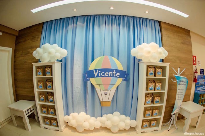 Cloud favor display from a George Pig Birthday Party on Kara's Party Ideas | KarasPartyIdeas.com (27)