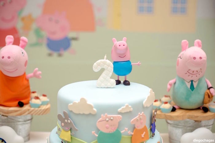 Cake top from a George Pig Birthday Party on Kara's Party Ideas | KarasPartyIdeas.com (5)