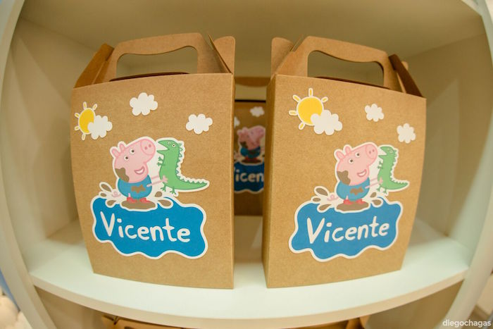 George Pig Favor Boxes from a George Pig Birthday Party on Kara's Party Ideas | KarasPartyIdeas.com (26)