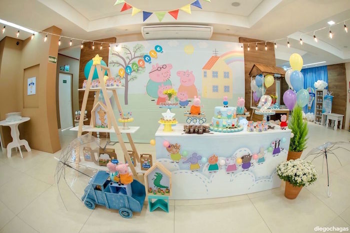 Dessert Table from a George Pig Birthday Party on Kara's Party Ideas | KarasPartyIdeas.com (24)