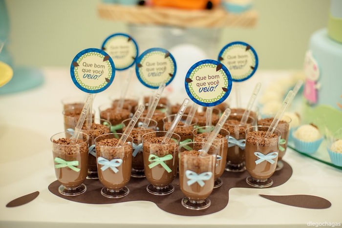 Mud Puddle Pudding cups from a George Pig Birthday Party on Kara's Party Ideas | KarasPartyIdeas.com (21)