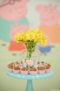 Dessert pedestal from a George Pig Birthday Party on Kara's Party Ideas | KarasPartyIdeas.com (20)