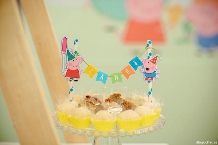 Brigadeiros from a George Pig Birthday Party on Kara's Party Ideas | KarasPartyIdeas.com (19)