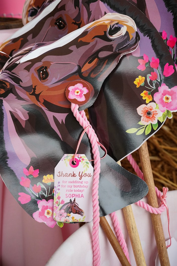 Horse Party favor tags from a Girly Horse Birthday Party on Kara's Party Ideas | KarasPartyIdeas.com (11)