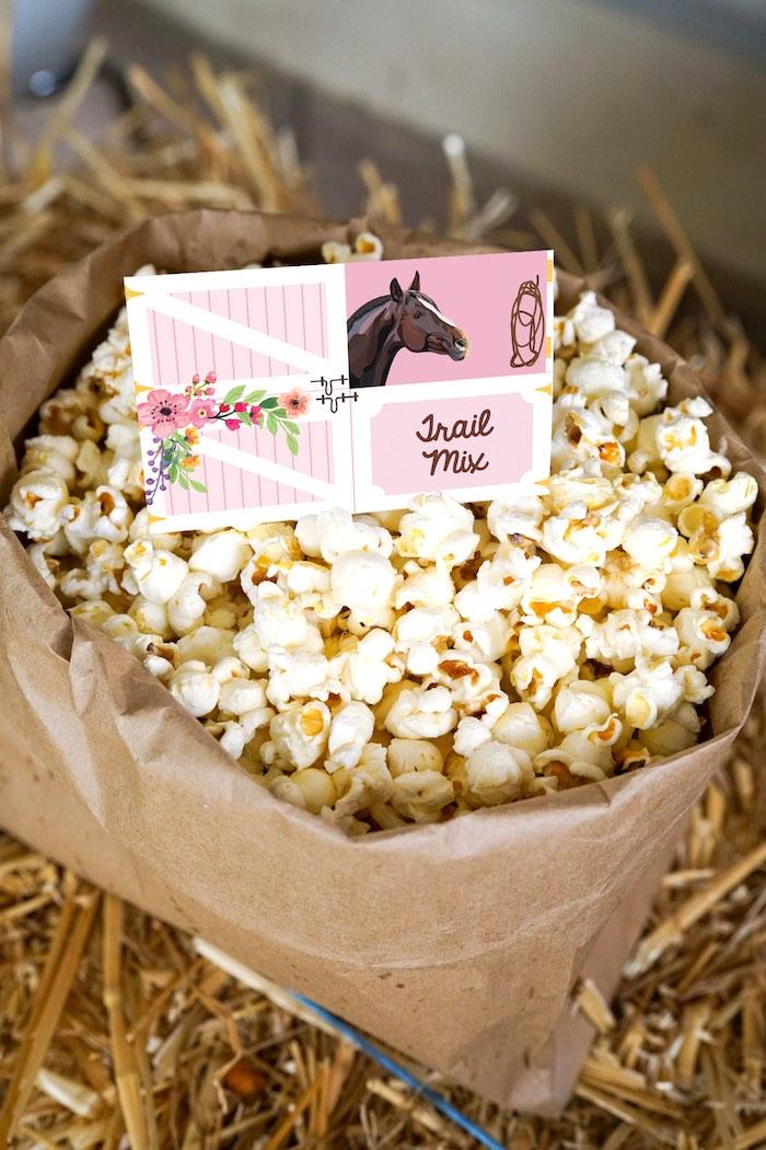 Trail Mix from a Girly Horse Birthday Party on Kara's Party Ideas | KarasPartyIdeas.com (9)