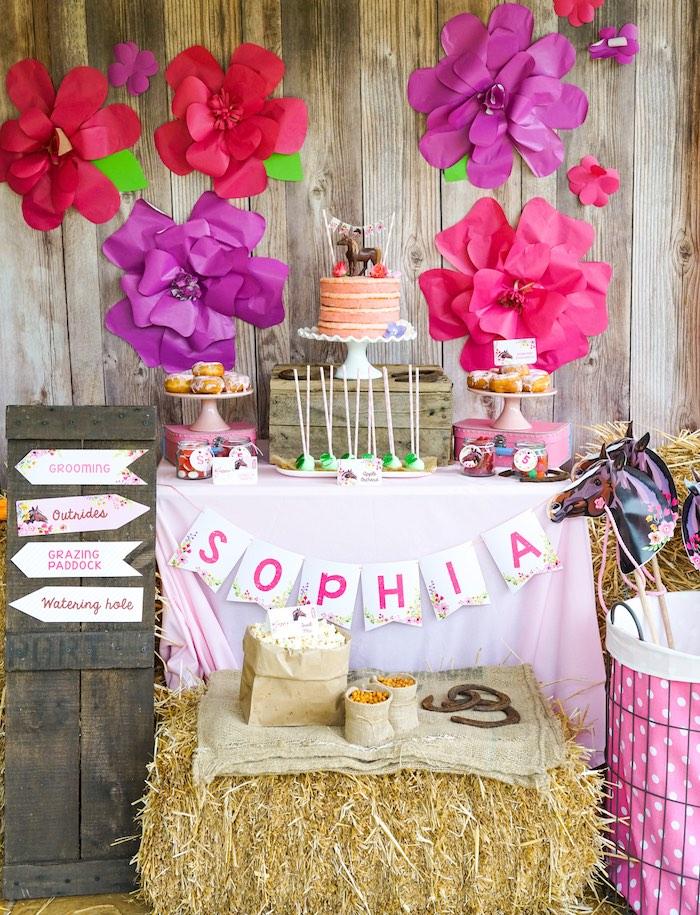 Girly Horse Birthday Party on Kara's Party Ideas | KarasPartyIdeas.com (22)