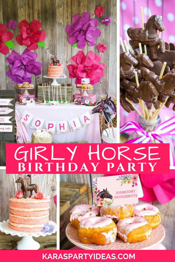 Girly Horse Birthday Party Via Karas Ideas