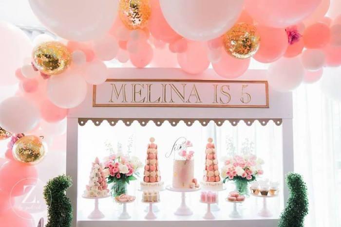 Dessert table from a High Tea Birthday Party on Kara's Party Ideas | KarasPartyIdeas.com (11)