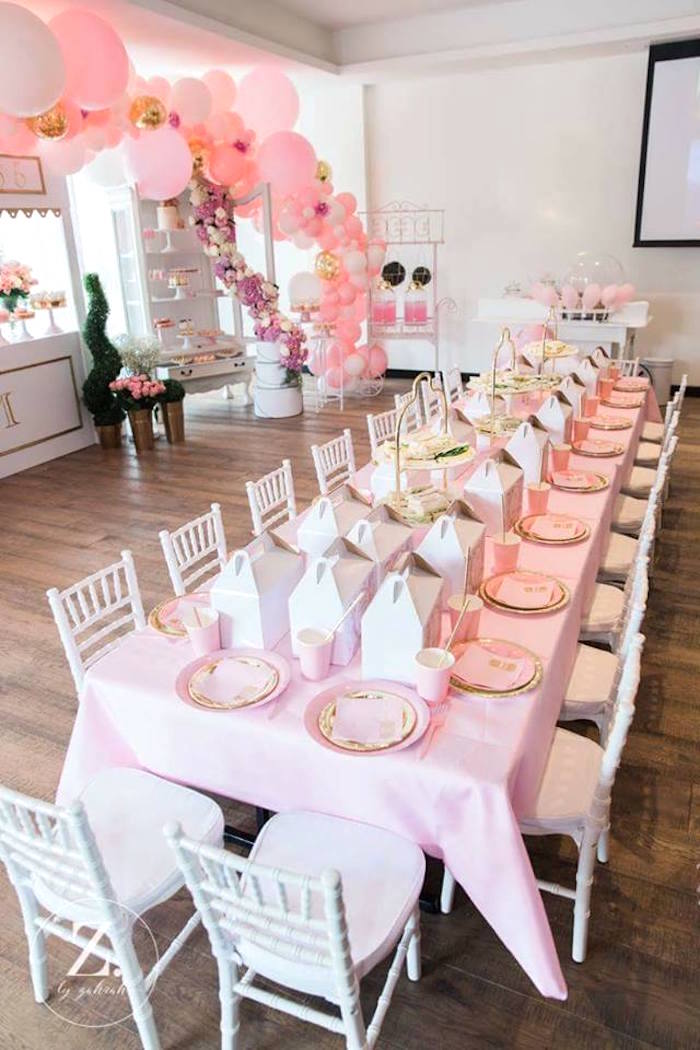 Guest table from a High Tea Birthday Party on Kara's Party Ideas | KarasPartyIdeas.com (5)