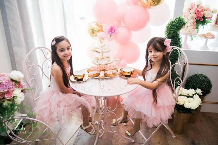Tea table from a High Tea Birthday Party on Kara's Party Ideas | KarasPartyIdeas.com (13)