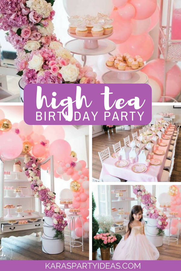 High Tea Birthday Party via Kara's Party Ideas - KarasPartyIdeas.com