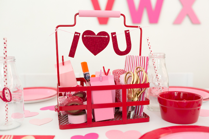 Valentine -Craft Kit from an I Heart You Valentine's Party on Kara's Party Ideas | KarasPartyIdeas.com (5)