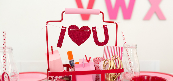 I Heart You Valentine's Party on Kara's Party Ideas | KarasPartyIdeas.com (2)