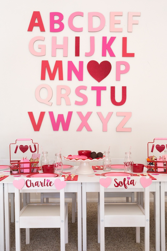 I Heart You Valentine's Party on Kara's Party Ideas | KarasPartyIdeas.com (14)