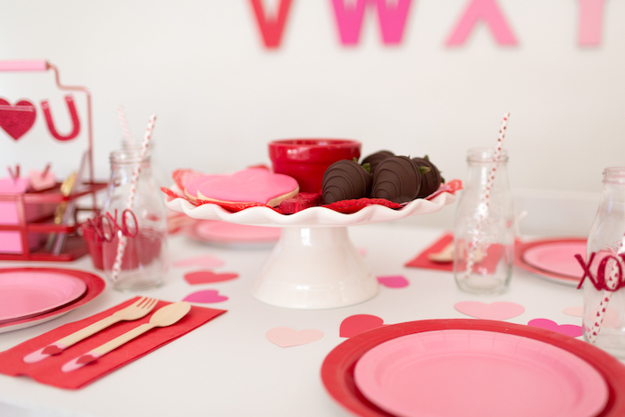 Dessert pedestal from an I Heart You Valentine's Party on Kara's Party Ideas | KarasPartyIdeas.com (9)