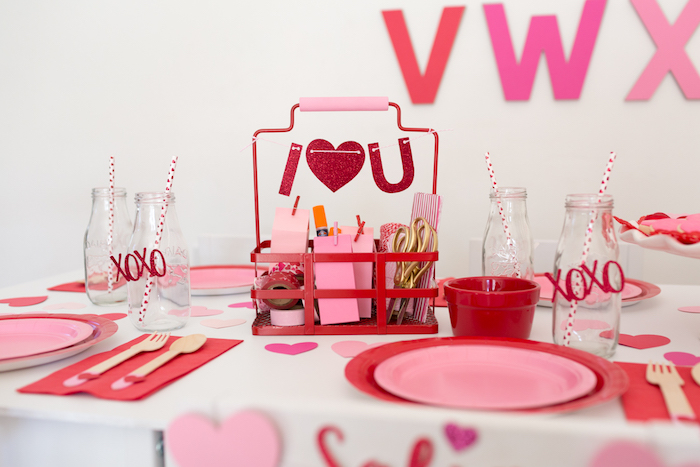 I Heart You Valentine's Party on Kara's Party Ideas | KarasPartyIdeas.com (6)
