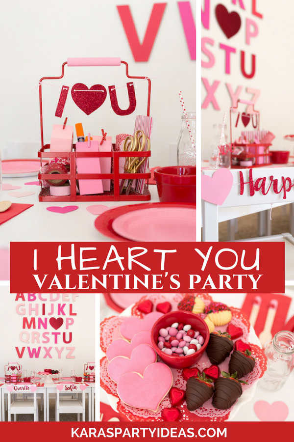 I Heart You Valentine's Party via Kara's Party Ideas - KarasPartyIdeas.com
