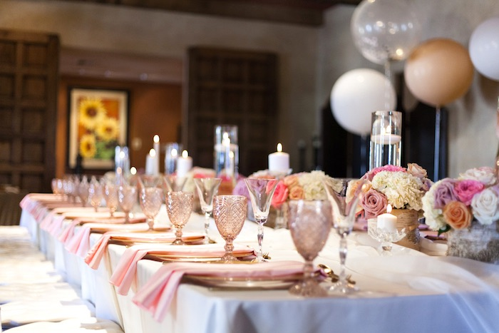 Guest tablescape + place settings from a Magical Unicorn Baby Shower on Kara's Party Ideas | KarasPartyIdeas.com (24)