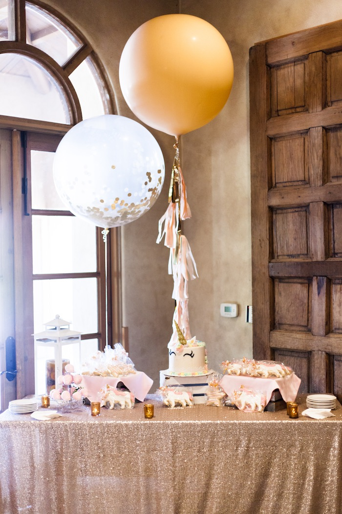 Unicorn Dessert Table from a Magical Unicorn Baby Shower on Kara's Party Ideas | KarasPartyIdeas.com (21)