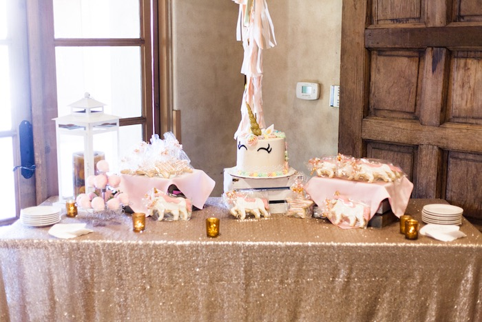 Unicorn Dessert Table from a Magical Unicorn Baby Shower on Kara's Party Ideas | KarasPartyIdeas.com (20)