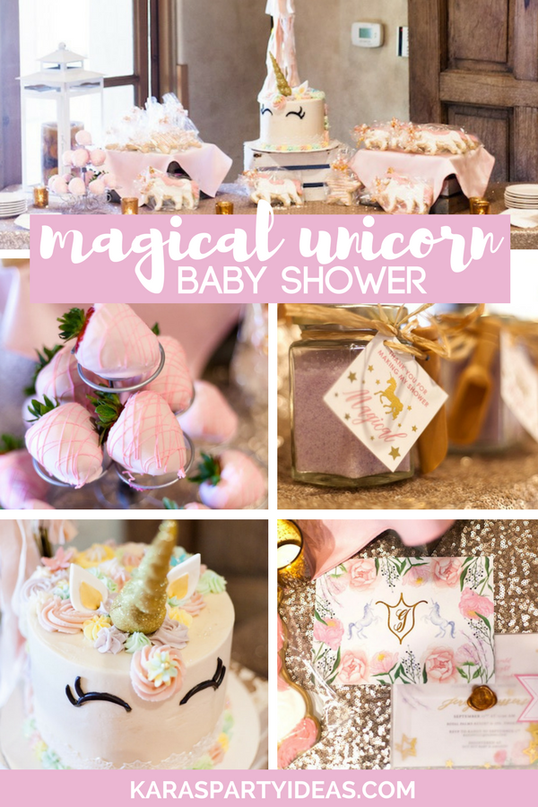 Magical Unicorn Baby Shower via Kara's Party Ideas - KarasPartyIdeas.com