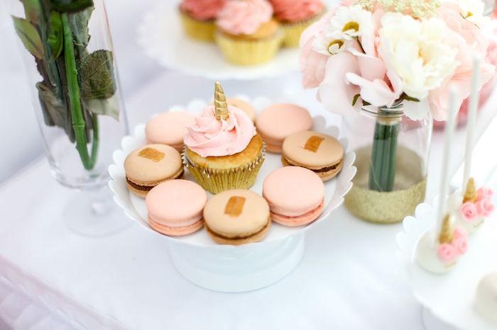 Macarons from a Magical Unicorn Birthday Party on Kara's Party Ideas | KarasPartyIdeas.com (7)