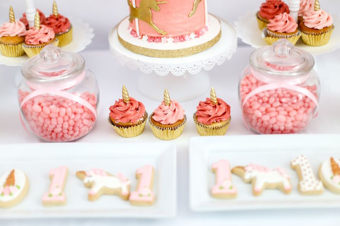 Unicorn cupcakes from a Magical Unicorn Birthday Party on Kara's Party Ideas | KarasPartyIdeas.com (6)