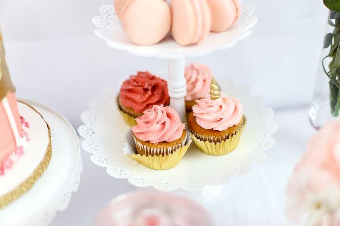 Cupcakes from a Magical Unicorn Birthday Party on Kara's Party Ideas | KarasPartyIdeas.com (10)
