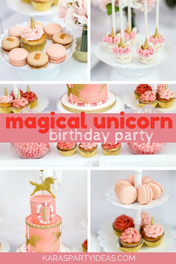 Magical Unicorn Birthday Party via Kara's Party Ideas - KarasPartyIdeas.com