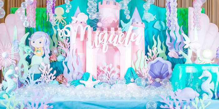 Majestic Under the Sea Birthday Party on Kara's Party Ideas | KarasPartyIdeas.com (3)