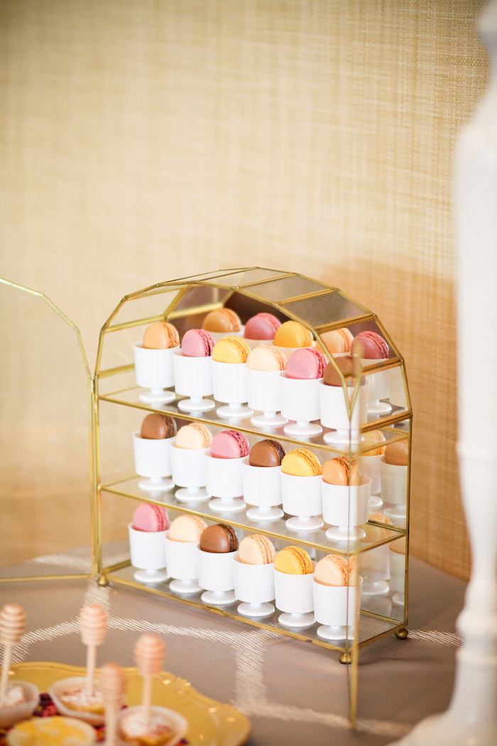 Macarons from a Mama to BEE Baby Shower on Kara's Party Ideas | KarasPartyIdeas.com (10)