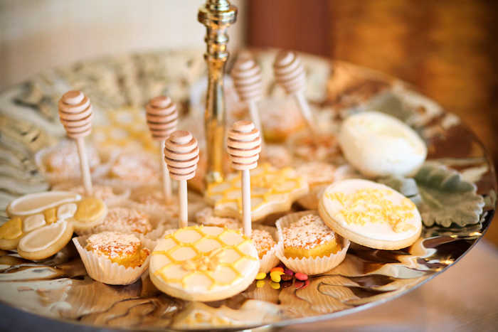 Honey Bee-inspired cookies from a Mama to BEE Baby Shower on Kara's Party Ideas | KarasPartyIdeas.com (8)
