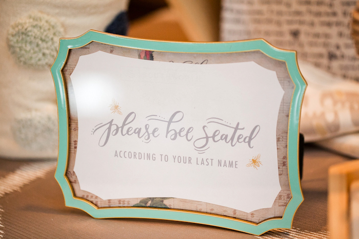 Signage from a Mama to BEE Baby Shower on Kara's Party Ideas | KarasPartyIdeas.com (20)