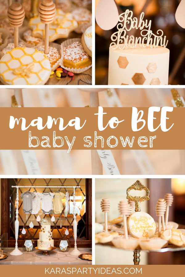 Mama to Bee Baby Shower via Kara's Party Ideas - KarasPartyIdeas.com