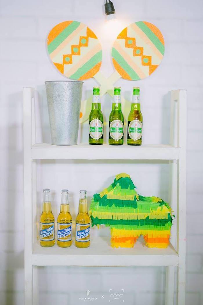 Beverage bar from a Mexican Birthday Fiesta on Kara's Party Ideas | KarasPartyIdeas.com (11)