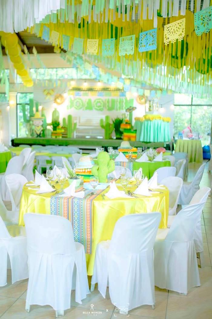 Guest table from a Mexican Birthday Fiesta on Kara's Party Ideas | KarasPartyIdeas.com (4)