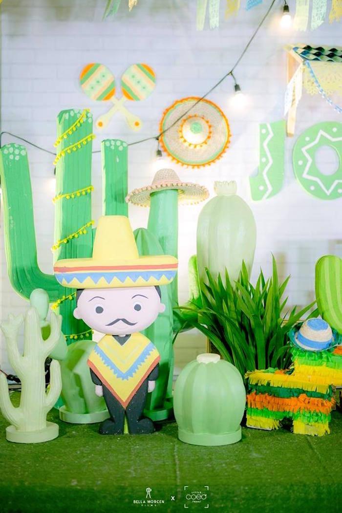 Mexican Man + decor from a Mexican Birthday Fiesta on Kara's Party Ideas | KarasPartyIdeas.com (20)