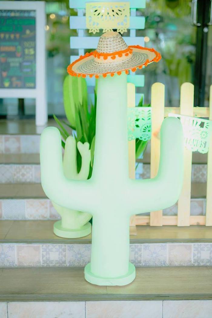 Cactus standee from a Mexican Birthday Fiesta on Kara's Party Ideas | KarasPartyIdeas.com (17)