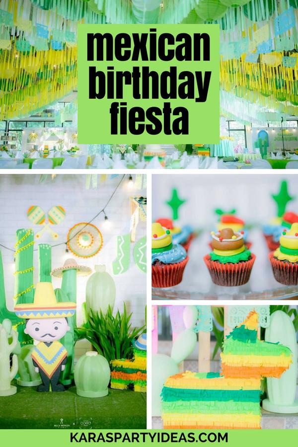 Mexican Birthday Fiesta via Kara's Party Ideas - KarasPartyIdeas.com