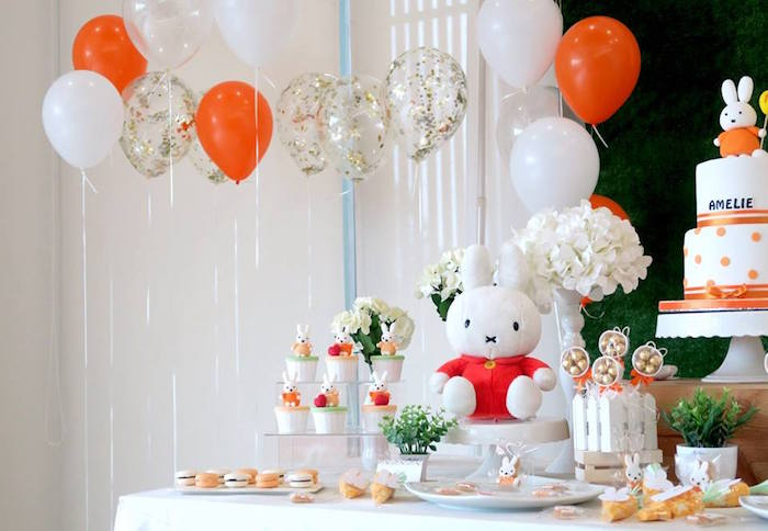 Miffy Bunny Birthday Party on Kara's Party Ideas | KarasPartyIdeas.com (10)