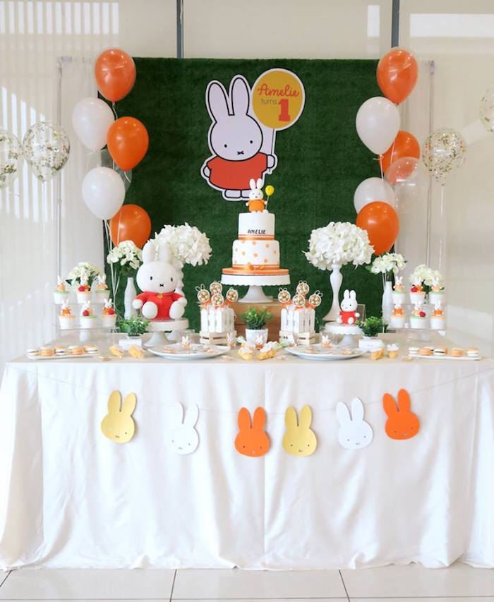 Miffy Bunny Birthday Party on Kara's Party Ideas | KarasPartyIdeas.com (6)