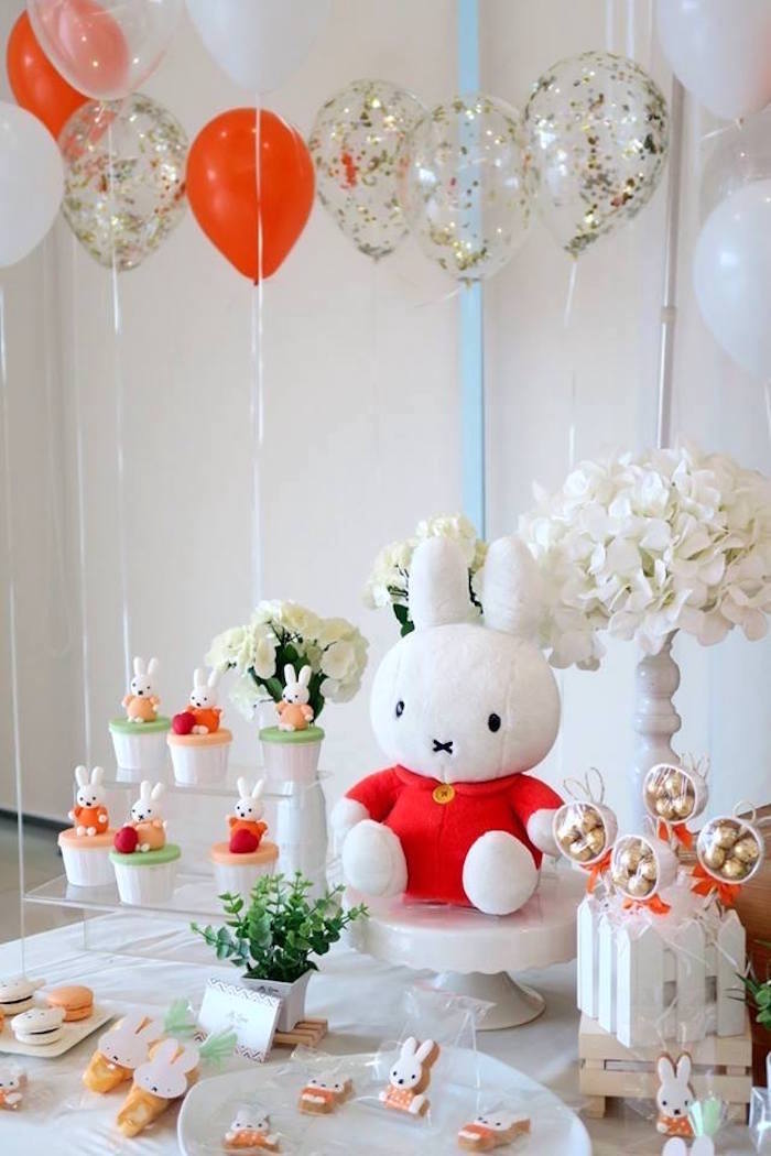 Miffy Bunny Birthday Party on Kara's Party Ideas | KarasPartyIdeas.com (15)