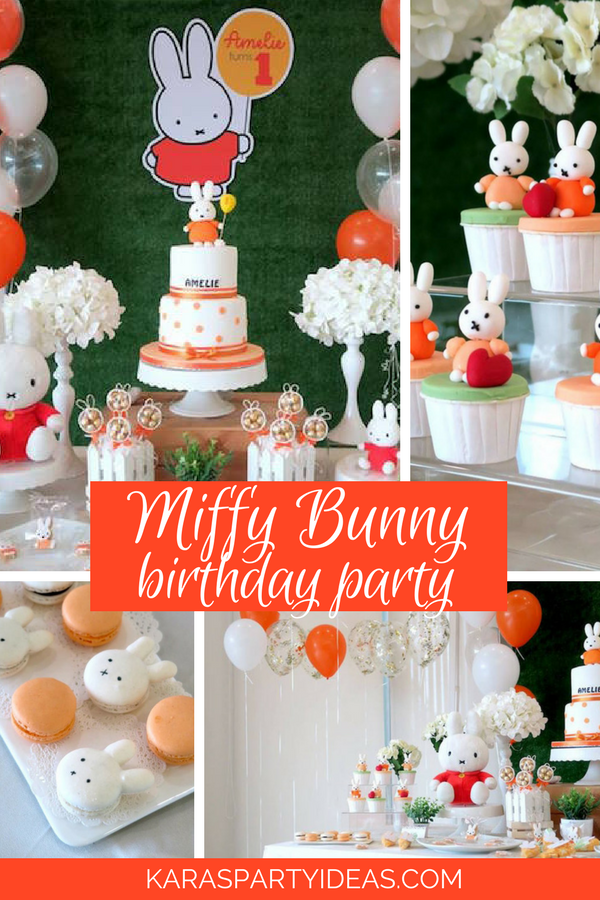 Miffy Bunny Birthday Party via Kara's Party Ideas - KarasPartyIdeas.com