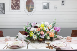 Brunch table from a Modern Bohemian Bridesmaids' Brunch on Kara's Party Ideas | KarasPartyIdeas.com (15)
