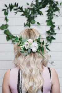Boho hair piece from a Modern Bohemian Bridesmaids' Brunch on Kara's Party Ideas | KarasPartyIdeas.com (8)