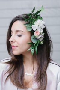Boho hair piece from a Modern Bohemian Bridesmaids' Brunch on Kara's Party Ideas | KarasPartyIdeas.com (24)