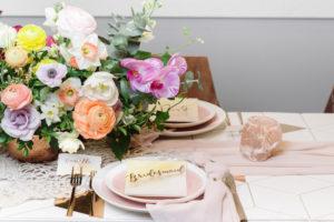 Brunch table from a Modern Bohemian Bridesmaids' Brunch on Kara's Party Ideas | KarasPartyIdeas.com (22)